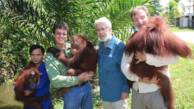 Unserer Botschafter - und das Projekt von Willie Smits für Orang-Utans auf Borneo